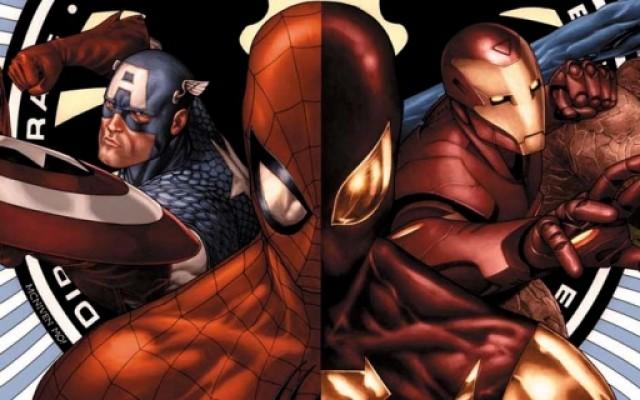 Spiderman contra o Capitão América na Guerra Civil do cinema