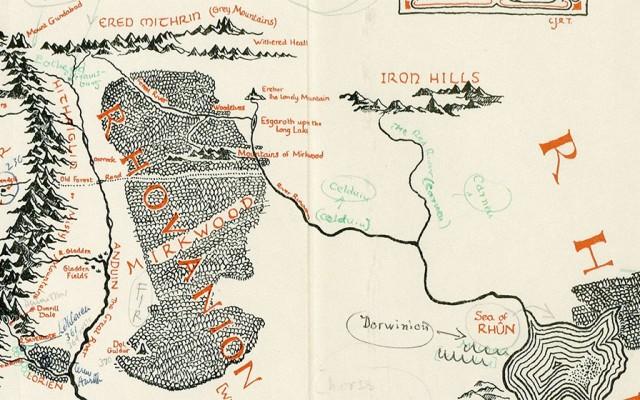 Mapa da Terra Média custa 60 mil Libras