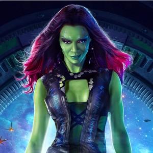 Zoe Saldana mostra como é a transformação em Gamora